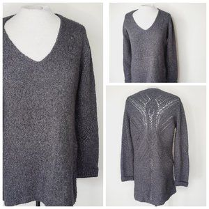 LINE Wool Oversized Knit Charcoal Grey Sweater
